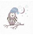 funny owl nursery art minimalist scandinavian vector image