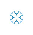 gamepad buttons linear icon concept gamepad vector image vector image