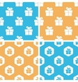 Gift box pattern set colored vector image