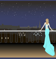 girl in evening dress on background the vector image vector image