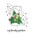 golden florarium vector image vector image