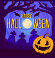 halloween full moon concept background hand drawn vector image vector image