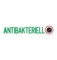 hand sketched antibacterial in german quote vector image vector image