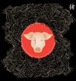 happy chinese new year year of the pig card the vector image