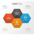 hardware icons set collection of socket switch vector image