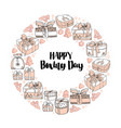 holiday gift boxes and text happy boxing day vector image vector image