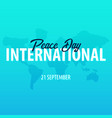 international peace day banner 21 september vector image vector image