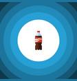 isolated lemonade flat icon bottle element vector image vector image
