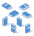 isometric book with shadow from different angles vector image vector image