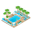 isometry girls in bathing suits on vacation vector image vector image