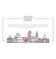 italy landmark panorama in linear style vector image