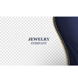 jewelry company realistic banner template vector image