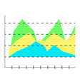 layer chart vector image vector image