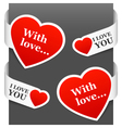 left and right side signs - with love vector image vector image