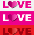 Love design set vector image vector image