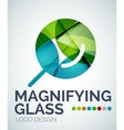 Magnifying glass ogo design made of color pieces vector image vector image