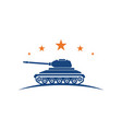 military tank icon design vector image