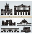 Naples landmarks and monuments vector image vector image