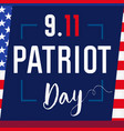 patriot day card usa blue vector image vector image