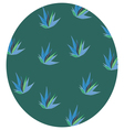 pattern of feather elements vector image vector image