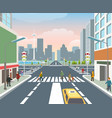 people on road vector image