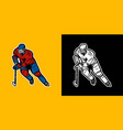 player ice hockey vector image vector image