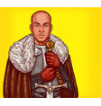 pop art of a medieval knight vector image vector image
