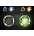 Power glossy buttons with the same illumination vector image