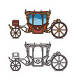 queen carriage or retro wedding chariot buggy vector image vector image