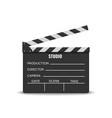 realistic movie clapperboard vector image vector image