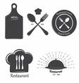 Restaurant labels vector image vector image
