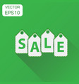 sale hanging price tag icon business concept sale vector image