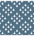 seamless pattern with fighter aircraft vector image