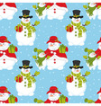 Seamless Pattern with Snowman vector image vector image