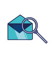search magnifying glass with envelope mail vector image vector image