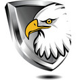 Silver shield with eagle