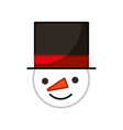 snowman head character isolated icon vector image