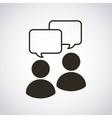 social media community icon vector image vector image
