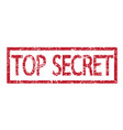 stamp text top secret vector image vector image
