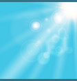 summer sunlight shining on blue sky background vector image