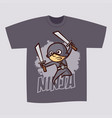 t-shirt print design superhero ninja boy vector image vector image