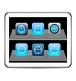 Time blue app icons vector image