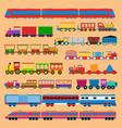 toy train vector image vector image