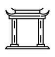 traditional asian gate monument linear style icon vector image
