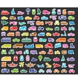 Transport icons set colored stickers vector image vector image