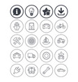 transport services icons ship car and bus vector image