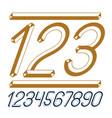 trendy vintage digits numerals collection retro vector image