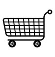 trolley icon simple black style vector image vector image
