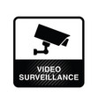 video surveillance icon in black color vector image