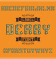 vintage label typeface vector image vector image